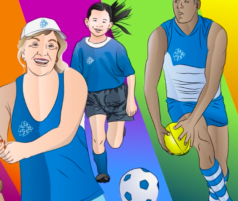 animated people playing soccer and rugby Laundry lane productions video production company Sydney
